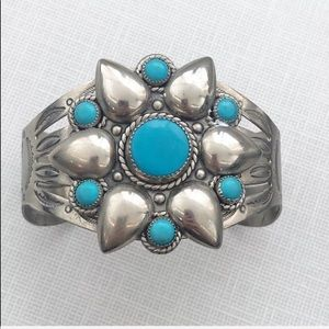 Bell Trading Post Vintage Turquoise Cuff Bracelet